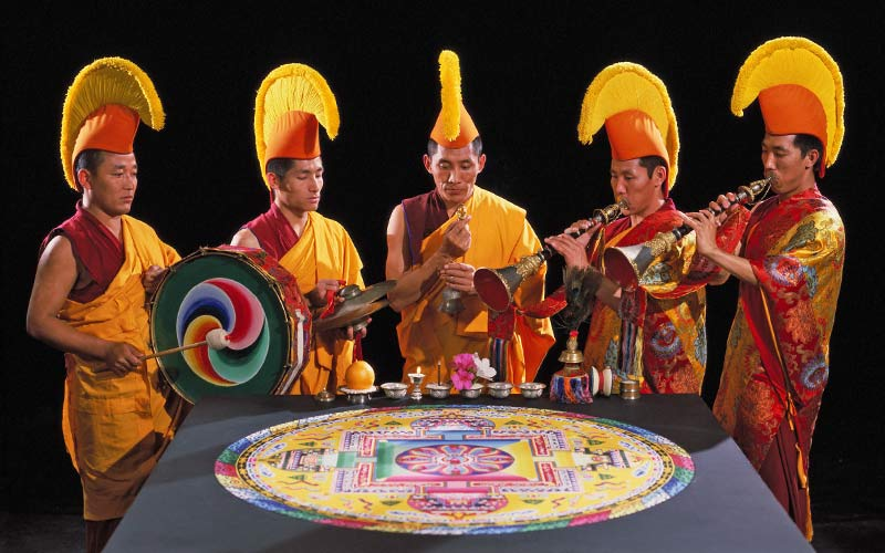 Tibetan Monks from Drepung Loseling Monastery