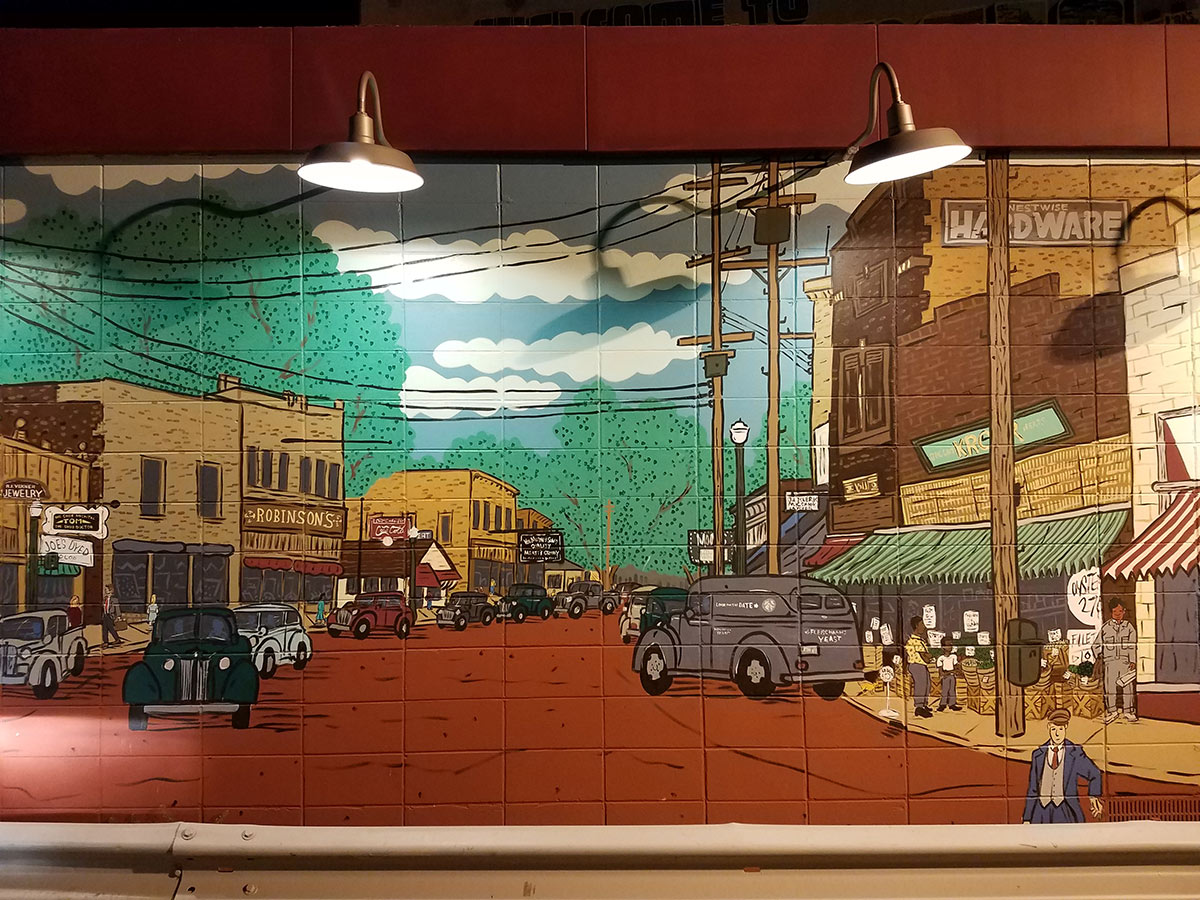 Howards Party Store Mural