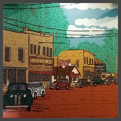 Mural at Stockbridge & Portage (Howard's Party Store)