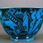 Egyptian Blue Jazz Bowl with Flared Rim