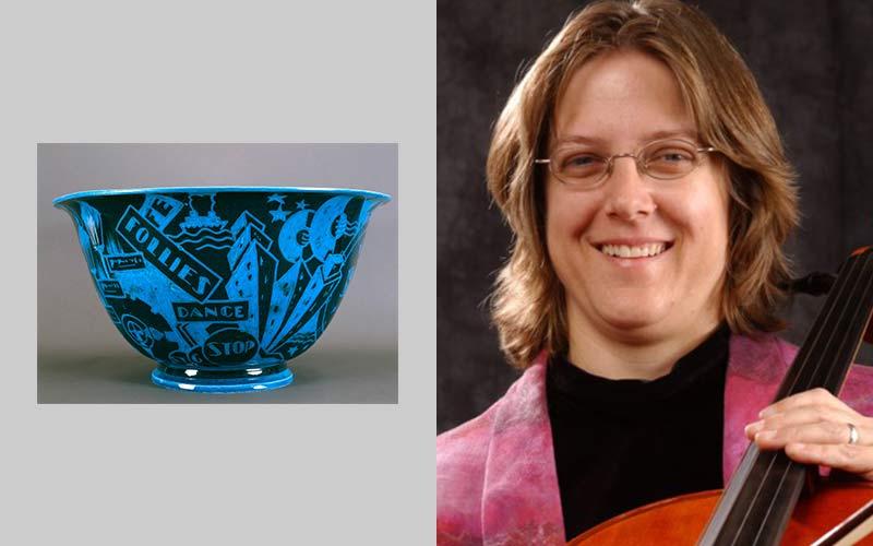 Egyptian Blue Jazz Bowl with FlaredRim by - Music by Laurie Jarski